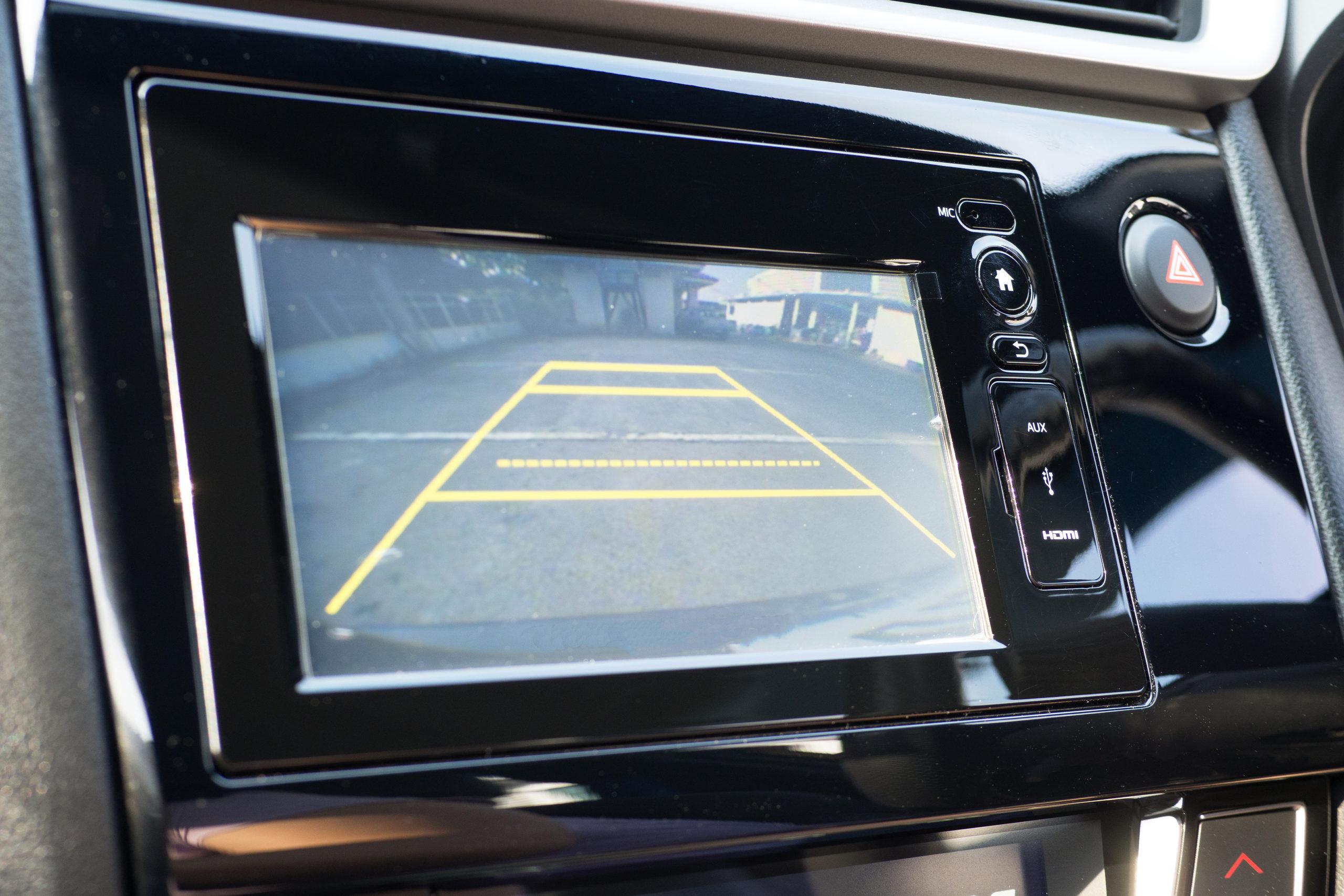 back up camera screen in car