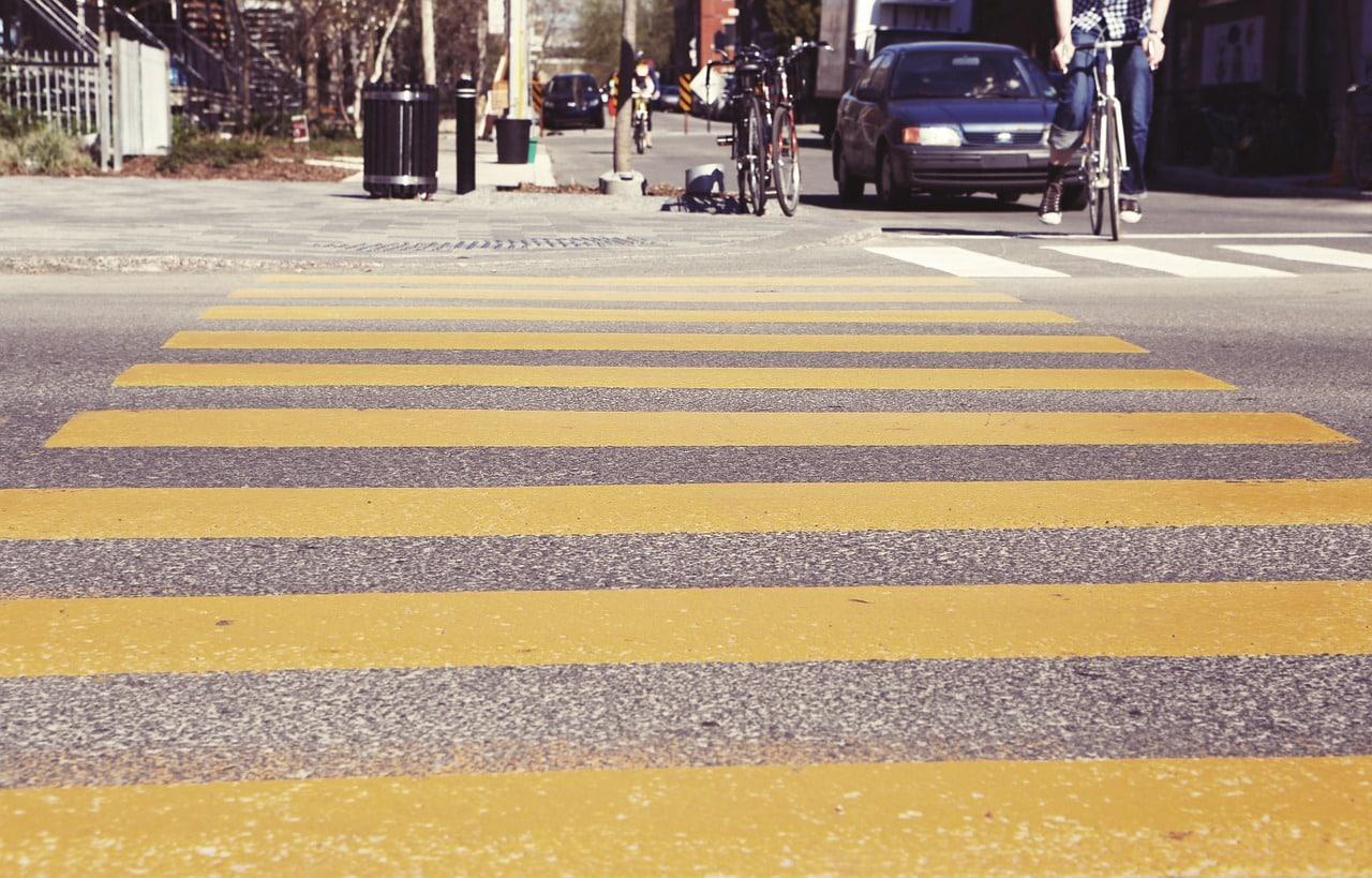 bicycles at crossing