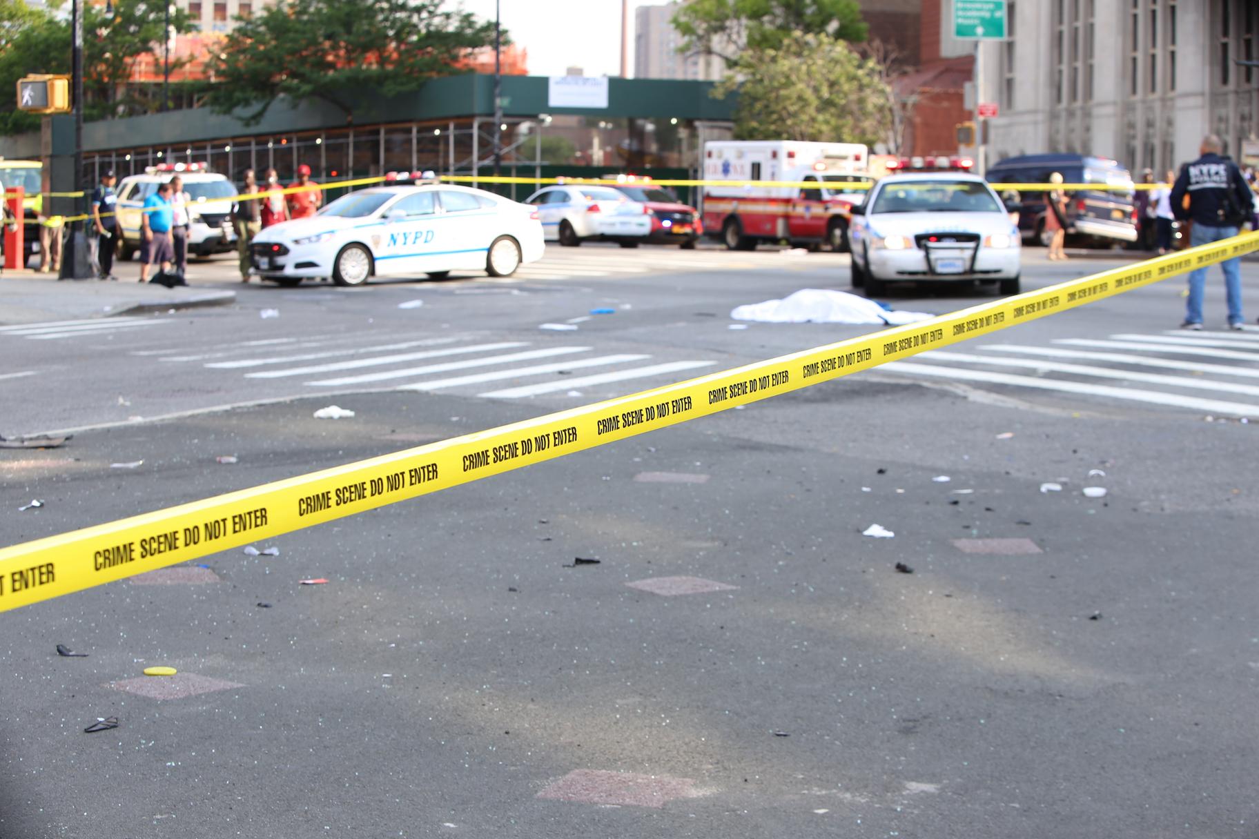 hit and run accident scene