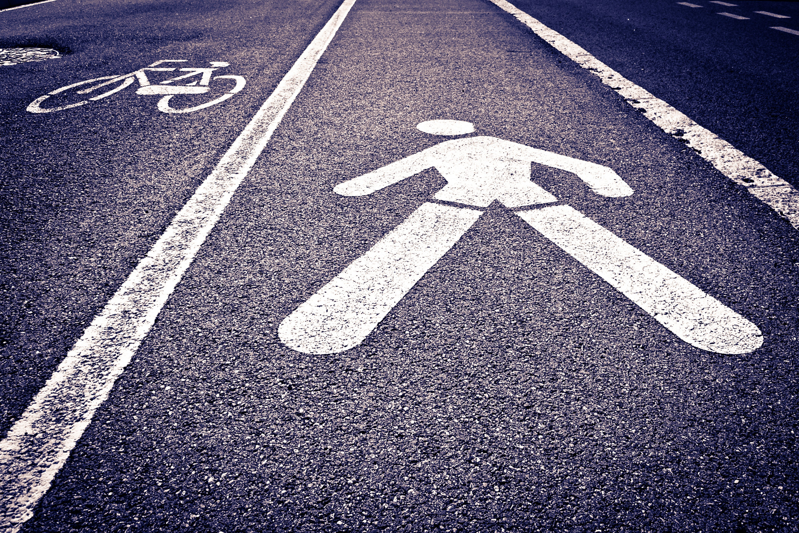 pedestrian and bicycle lanes