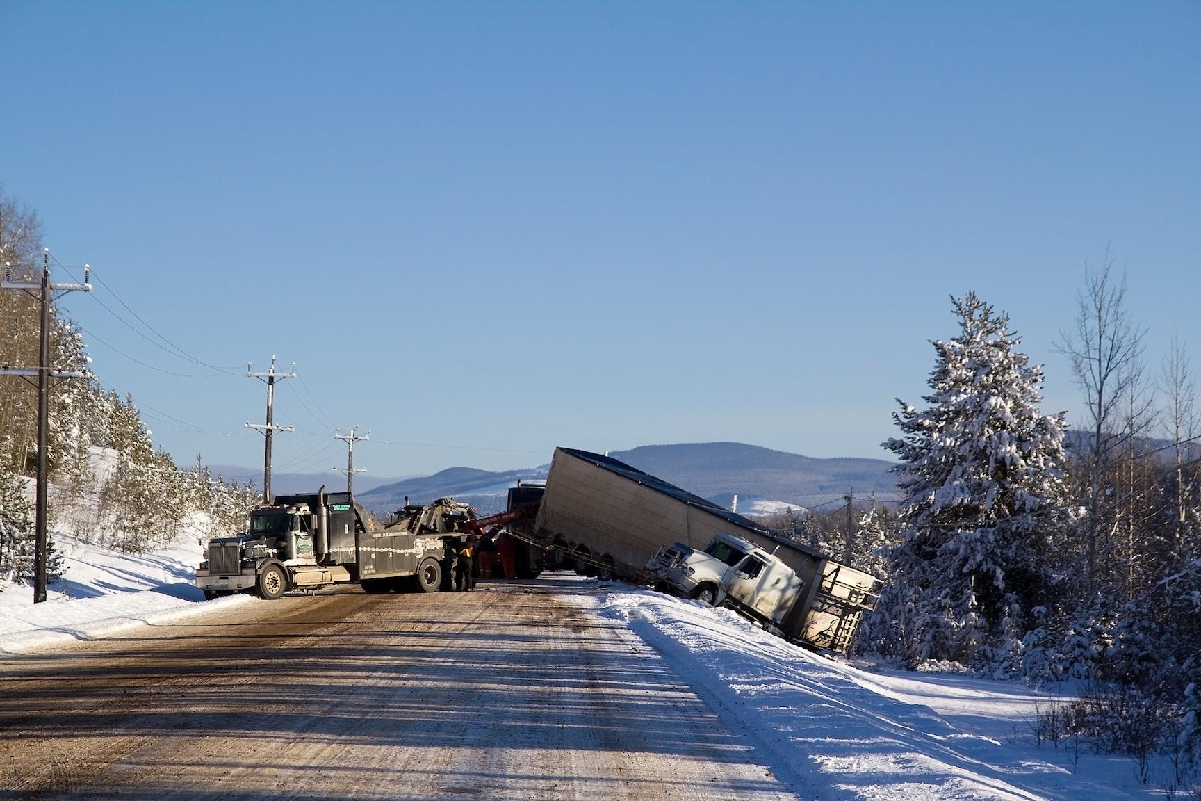 big rig car accident